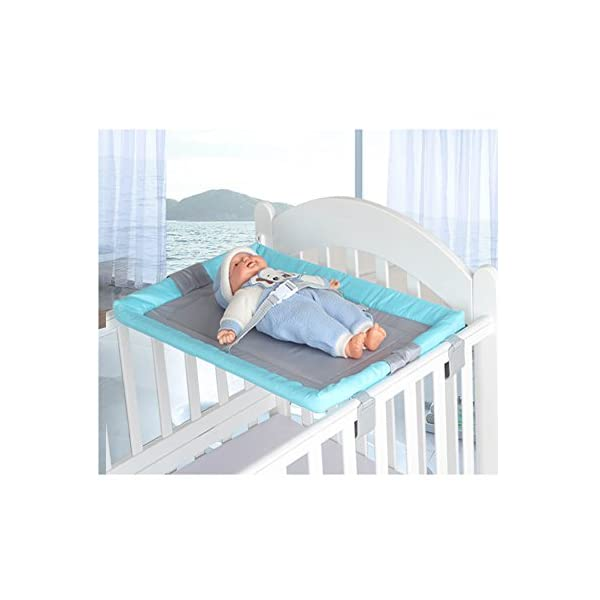 Miyaou Universal Baby Cot Top Changer 70×45 CM Portable Baby Changing Table 5 Colors (PlanALanger-Blue)