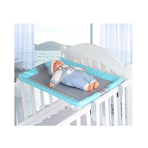 Miyaou Universal Baby Cot Top Changer 70x45 CM Portable Baby Changing Table 5 Colors (PlanALanger-Blue)
