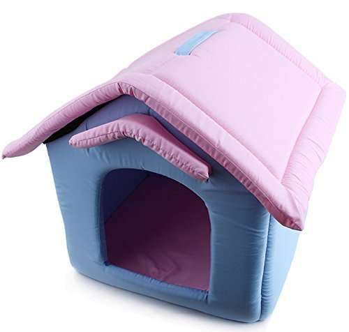 Komia Single Room House for Small Dog Indoor/Outdoor House Bed Pet Soft Pad