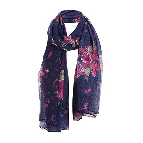 Livoty Women Ladies Flowers Print Pattern Lace Long Scarf Warm Wrap Shawl - Mens Leopard Print Vans
