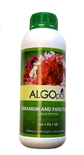AlgoPlus Geranium and Patio Plant Liquid Fertilizer - 1 Liter