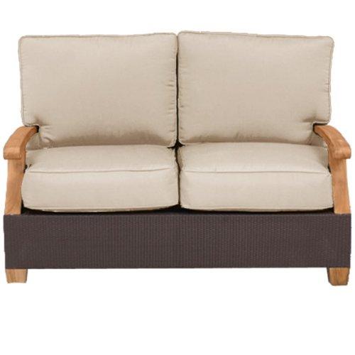 Three Birds Casual CE60 Ciera Deep Seating 2-Seater Sofa, Brown
