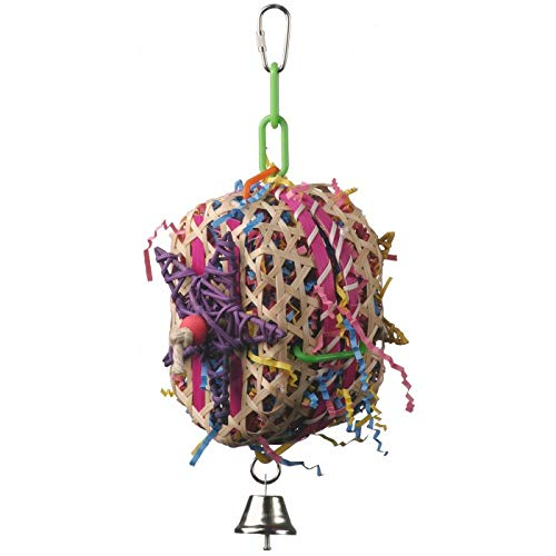 Super Bird Creations 10 by 7-Inch Basket Case Bird Toy, Medium