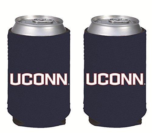 NCAA College 2014 Team Logo Color Can Kaddy Holder Cooler 2-Pack (UCONN Huskies)