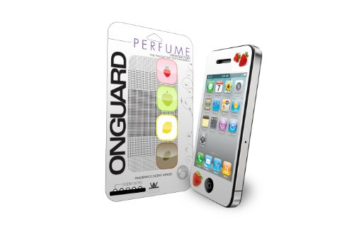 - ONGUARD-K2W. LLC ONG-IP4S-4-Coffee Scented Perfume Screen Protector for Apple iPhone 4S - 1 Pack - Retail Packaging - Black/White