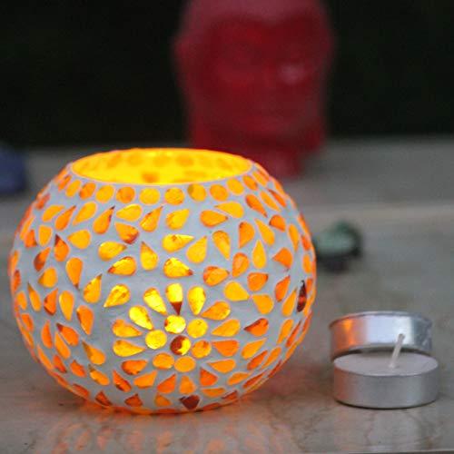 Karguzzari Crackle Glass Candle Holder Votive T Light Holder Home Décor Lighting Gift Tlight (VOT- 53)
