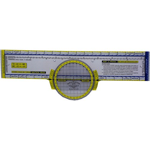 Deluxe Color-coded Rotating Azimuth Navigation Plotter