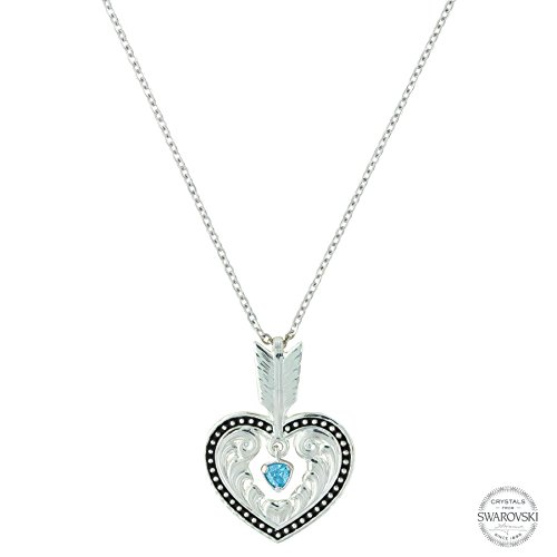 Shot in the Heart with a Big Sky Arrow Necklace (Big Sky Silver Jewelry)