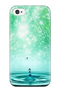 Premium Tpu Spring Waters Cover Skin For Iphone 4/4s