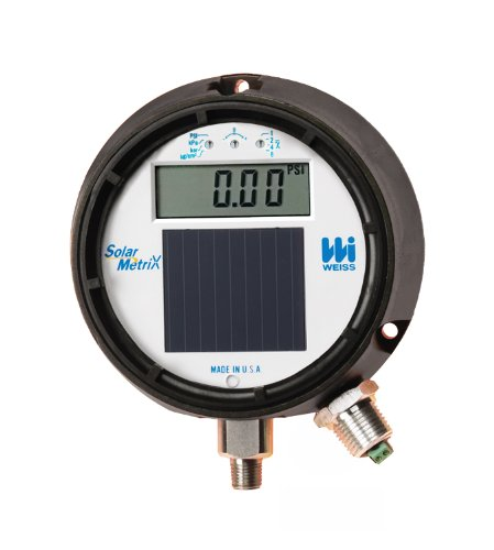 Weiss Instruments DUGY3 Light Powered Digital Process Pressure Gauge with 4-20MA Transmitter, Stainless Steel 304 Wetted Parts, LCD Display, 4-1/2