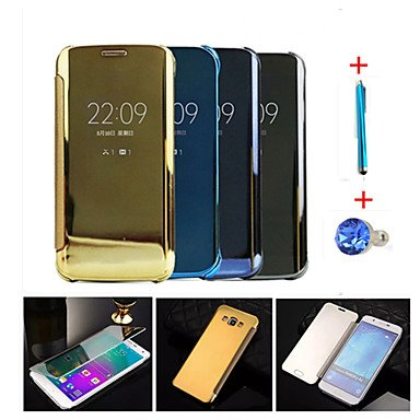 Clear View Window Smart Cover Fundas for Galaxy A7(2016)/A5(2016)/A9/A8/A7/A5/Note 5/Note 4+Stylus Anti-dust...