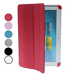 JJE Slim Protective Case Cover with Stand for Samsung Galaxy Tab2 10.1 P5100 , Red