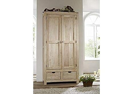 Legno Naturale Bianco : Mobili in legno massello acacia armadio legno mobili massiccio