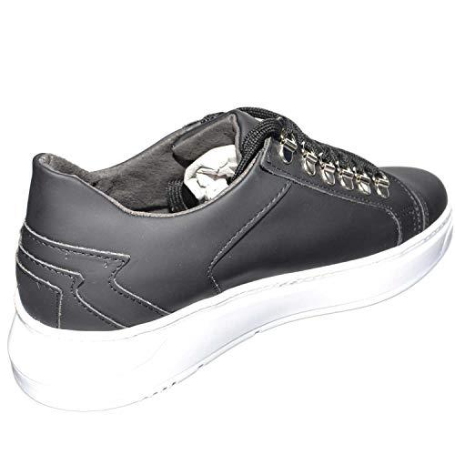 Made Uomo Bassa Fondo Giovanile Opaca Oro Sneakers Italy Moda Vera In Nero Queen Pelle Ganci SBgxPw