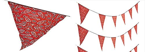 HAPPY DEALS ~ Large (Plastic) Bandana Print Western Party Pennant Banner - 100 feet Long]()