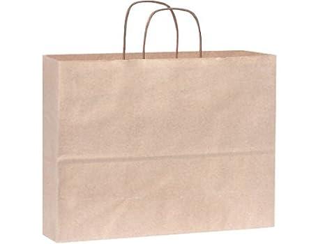Vogue papel reciclado Bagsbulk de harina de avena 16 x 6 x12 ...