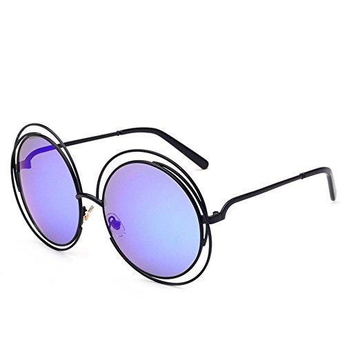 hommes soleil soleil Lunettes lunettes à miroir en métal cadre grand de vintage rond Violet de OqBxTRT