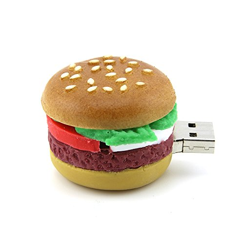 Funnyusb Flash Drive USB 3.0 16GB Cartoon Hamburger Food Shape USB High Speed Flash Disk Hamburg Pen Drive Disk Memory Stick ()