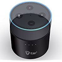Echo Dot Battery,Itian Portable Power Bank Charger 10000mAh K12 for 2nd Gen Echo Dot and Android Apple Devices-Black
