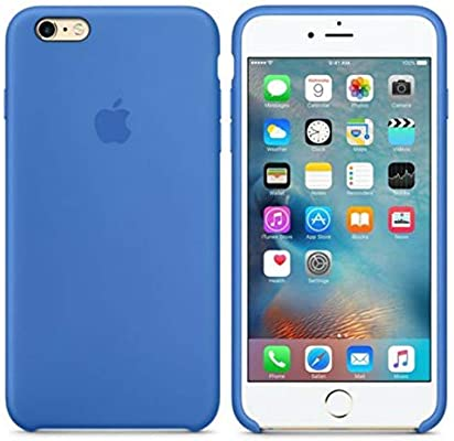 Desconocido Funda para iPhone, Silicona Azul Royal, Azul Marino Logo Apple Carcasa iPhone (iPhone 7 Plus / 8 Plus)