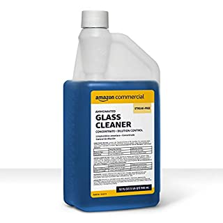 AmazonCommercial Glass Cleaner, Concentrate, Dilution Control, 32-Ounces, 6-Pack