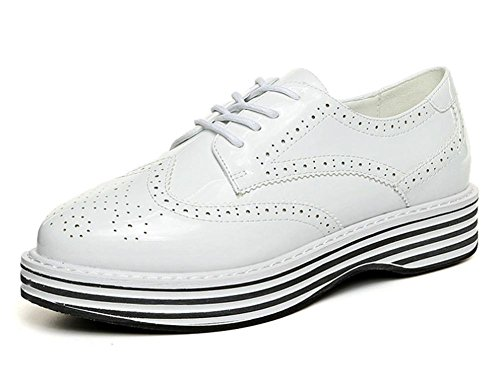 Mme Spring chaussures d'ascenseur chaussures de sport avec des chaussures muffin épais simples chaussures en cuir Mme , US6.5-7 / EU37 / UK4.5-5 / CN37