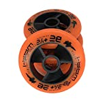 JieKeHaiDao Skate 85A PU Speed Inline Outdoor Skate Replacement Wheels without Bearings (Pack of 4) Size 110mm and 100mm and 90mm For Choose (Orange, 100mm)