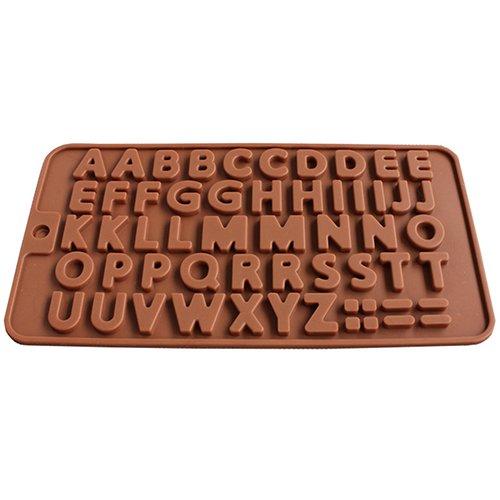 Molde de silicona para tartas de chocolate con dise/ño de letras