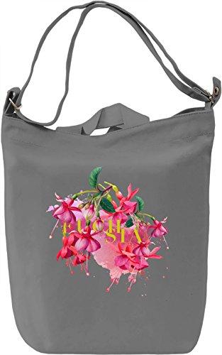 Fuchsia Borsa Giornaliera Canvas Canvas Day Bag| 100% Premium Cotton Canvas| DTG Printing|