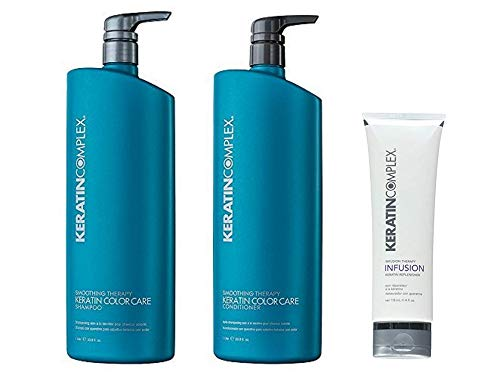 Keratin Complex Color Care Shampoo n Conditioner 33.8 ounce & Infusion Therapy Keratin Replenisher 4 ounce