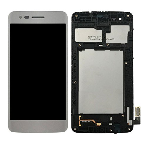 LCD Display Digitizer Touch Screen Assembly with Frame for LG M210 MS210 Aristo LV3 LG K8 2017 (White) ()