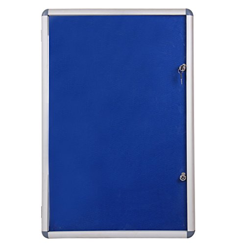 Viz-pro Tamperproof Lockable Noticeboard Class 1 Aluminium Framed 36x24 Inches