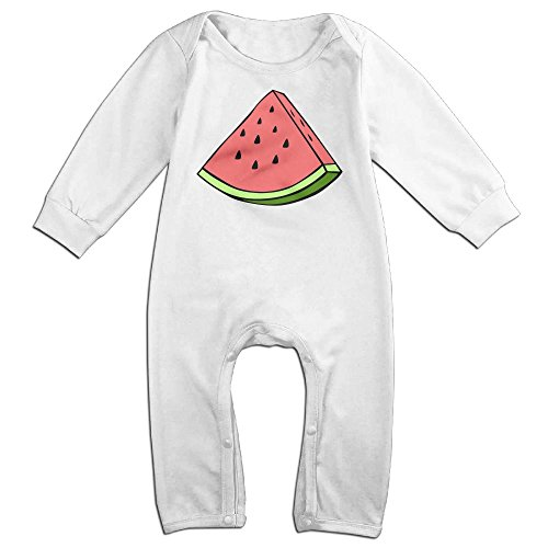 Baby Sour Patch Kid Costume (Baby Infant Romper Watermelon Long Sleeve Jumpsuit Costume White 18 Months)