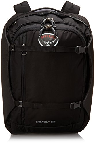 Osprey Porter Travel Duffel Bag Black 30-Liter