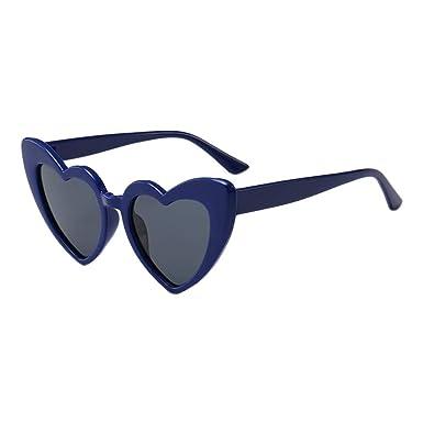 31a1ac0c6a96e Deylaying Plage Enfants Lunette Soleil - Polarisé Sunscreen Lunettes Anti  Éblouissement UV Eyewear Cœur En forme