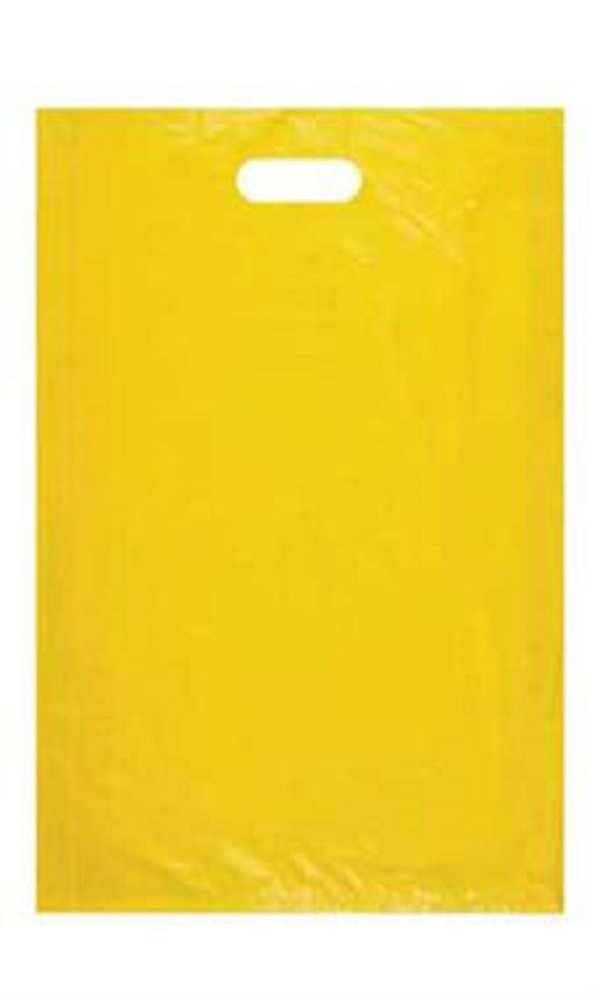 Large High Density Yellow Plastic Merchandise Bags - Case of 1,000