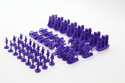 Napoleonic & Civil War Military Miniatures (Purple): Plastic Toy Soldiers Set: Infantry, Cavalry, Artillery, ()