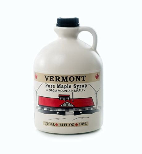 Georgia Mountain Maples of Vermont, Organic Maple Syrup, Amber Color Rich Taste, 64 Ounce (Vermont Pure Syrup Maple)