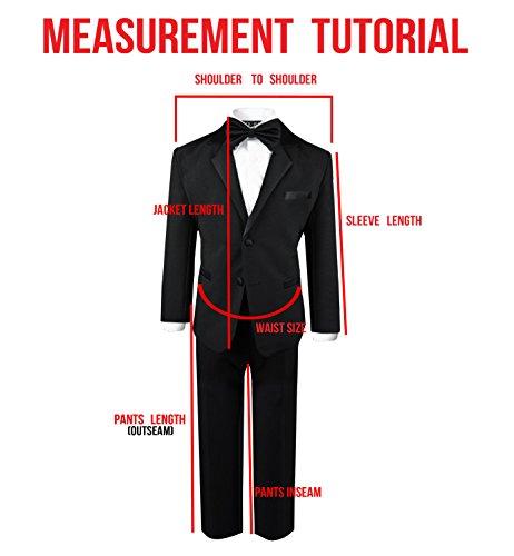 Boys Tuxedo in Black Dresswear Set Size 4T by Black n Bianco (Image #5)