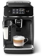 Philips Espressomachine Series 2200 - 3 Koffiespecialiteiten - Eenvoudig LatteGo melksysteem - Touchdisplay - 12 maalstanden - 1.8 l Waterreservoir - 275 g Bonenreservoir - Glossy zwart - EP2232/40