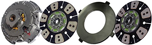 """IATCO 107091-55-IAT 15-1/2"""" x 2"""" Angle Spring Clutch (Two-Plate, 6-Round / 8-Spring, 3600 Plate Load / 1400 Torque)"""