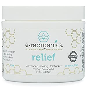 Psoriasis & Eczema Cream 4oz Advanced Healing Non-Greasy Moisturizer with Organic Aloe Vera, Manuka Honey, Hemp Oil & More. Natural Moisturizer for Dermatitis, Rosacea, Shingles, Dry, Itchy Skin