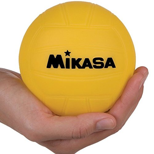 Mikasa 4-inch Mini Promotional Water Polo Ball, Soft Cover-Yellow