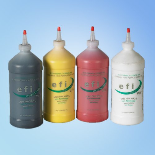 Marsh 'efi' White Stencil Ink 4 oz Squeeze Handle Bottle