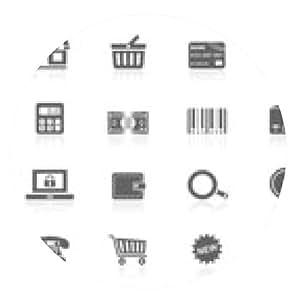 alfombrilla de ratón iconos de las compras - ronda - 20cm