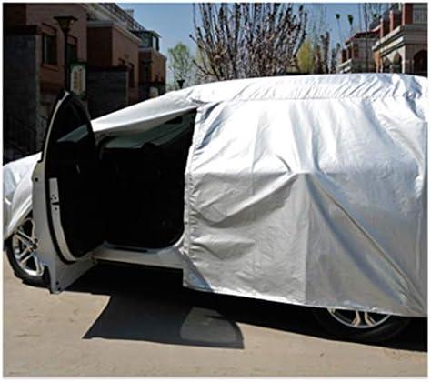 車のカバー ダッジラム防水通気性の良いフルエクステリアの防塵アウトドアカーアクセサリー携帯ガレージフォーシーズンズユニバーサルカーカバーカバーと互換性 (Color : Silver Oxford)