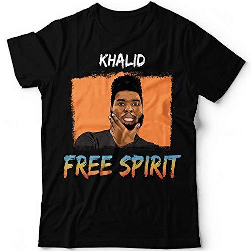 (Khalid Portrait Free Album Young Dumb Music Concert Customized Handmade T-Shirt Hoodie/Long Sleeve/Tank Top/Sweatshirt)