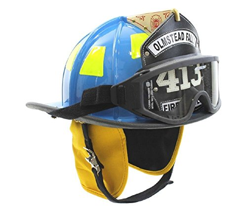 MSA 1010XDC Cairns Fire Helmet with ESS Goggles, Deluxe Leather, Crown Pad, PBI/Kevlar Earlap, Nomex Chinstrap with Quick Release, Postman Slide and 6