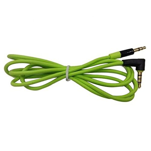 TOOGOO(R) 3.5MM Male To Male Car AUX Cord Studio Audio Extension Bent Cable(Green)