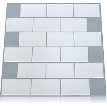 appeal tiles premium peel u0026 stick wall tile subway gray grout 10 pack